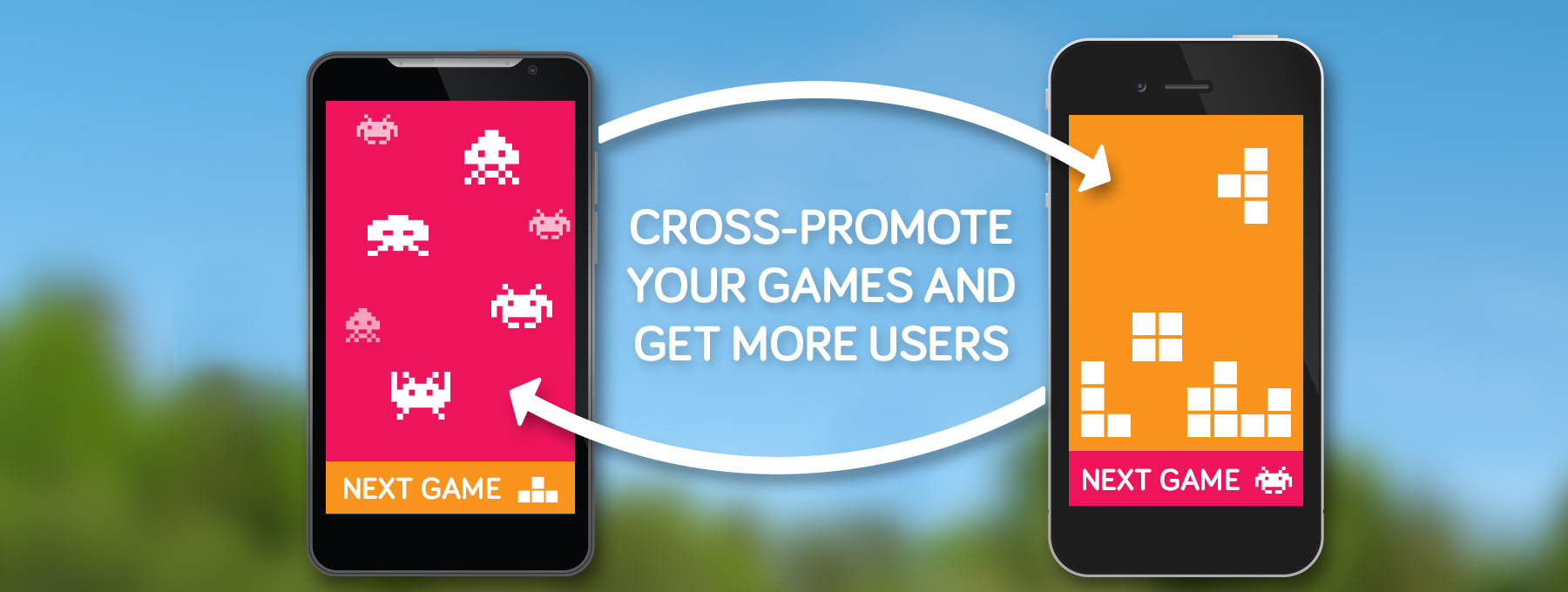 Cross promote your games and get more users.